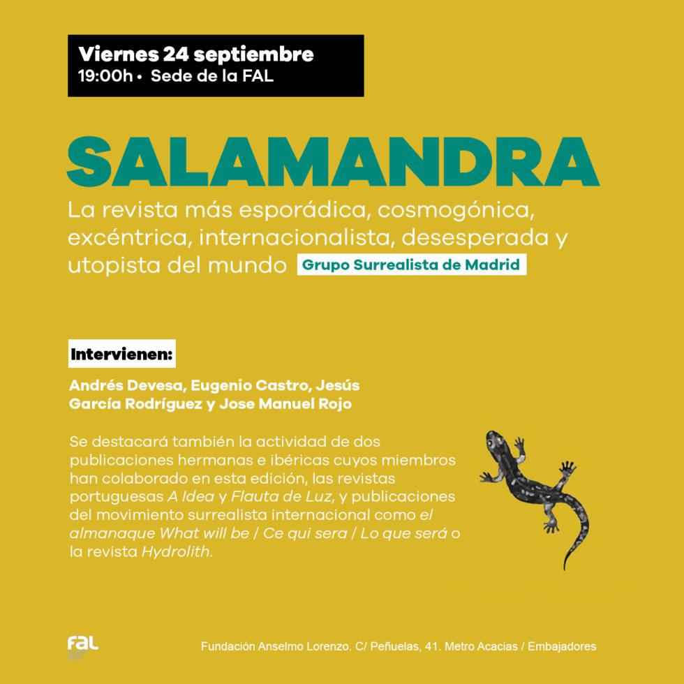 Presentación del nuevo número de Salamandra